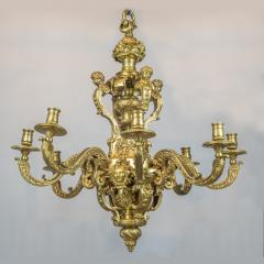An Exceptional High Quality of R gence Style Gilt Bronze Eight Light Chandelier - 1443999