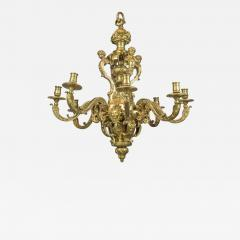 An Exceptional High Quality of R gence Style Gilt Bronze Eight Light Chandelier - 1448560