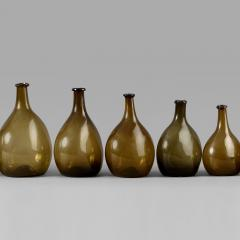 An Exceptional Set of 13 Graduated Blown Chestnut Bottles - 307788