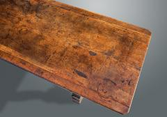 An Exceptional Spanish Walnut Trestle Table - 1233264