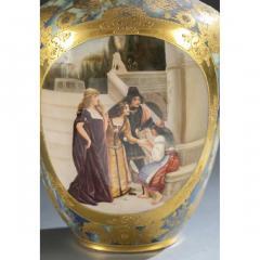 An Exquisite A Royal Vienna Porcelain Vase Depicting a Fortune Teller - 1567075