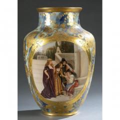 An Exquisite A Royal Vienna Porcelain Vase Depicting a Fortune Teller - 1567078