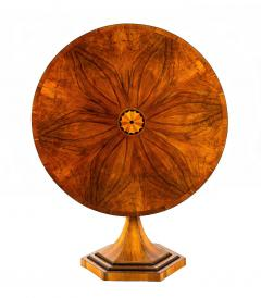 An Exquisite Biedermeier Trumpet Pedestal Tilt Top Table - 1351835