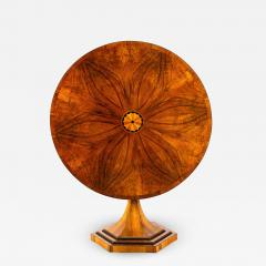 An Exquisite Biedermeier Trumpet Pedestal Tilt Top Table - 1352906