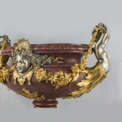An Exquisite Ormolu Mounted and Silvered Bronze and Marble Centerpiece - 1435014