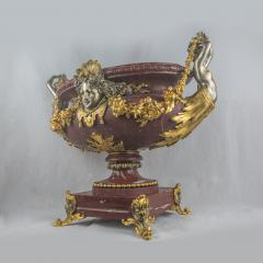 An Exquisite Ormolu Mounted and Silvered Bronze and Marble Centerpiece - 1435016