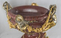 An Exquisite Ormolu Mounted and Silvered Bronze and Marble Centerpiece - 1435017