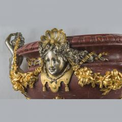 An Exquisite Ormolu Mounted and Silvered Bronze and Marble Centerpiece - 1435018