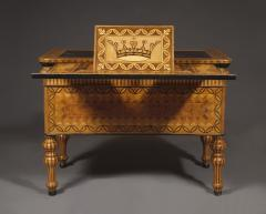An Extraordinary Geometric Marquetry Kneehole Desk - 1352019