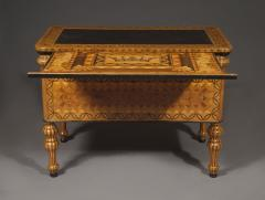 An Extraordinary Geometric Marquetry Kneehole Desk - 1352020