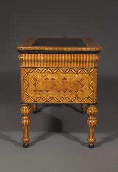 An Extraordinary Geometric Marquetry Kneehole Desk - 1352026