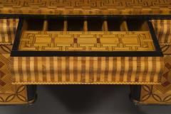 An Extraordinary Geometric Marquetry Kneehole Desk - 1352028