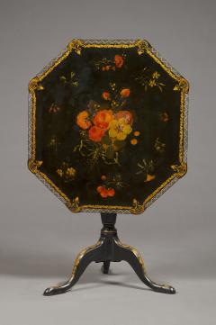 An Extremely Rare Pair Of George III Lacquer And T le Peinte Center Tables - 1376159