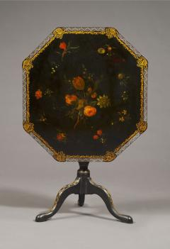 An Extremely Rare Pair Of George III Lacquer And T le Peinte Center Tables - 1376160