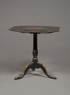 An Extremely Rare Pair Of George III Lacquer And T le Peinte Center Tables - 1376162