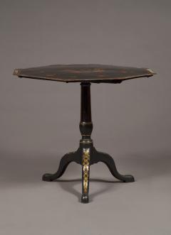 An Extremely Rare Pair Of George III Lacquer And T le Peinte Center Tables - 1376163