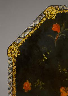An Extremely Rare Pair Of George III Lacquer And T le Peinte Center Tables - 1376172