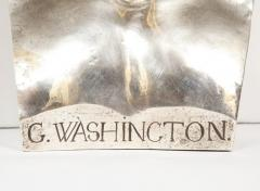 An Extremley Rare Silvered Metal Bust of George Washington by F Barbedienne - 1036094