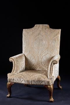 An Important Early English Kentian Walnut Wing Chair Circa 1735 - 127860