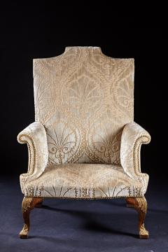 An Important Early English Kentian Walnut Wing Chair Circa 1735 - 127862