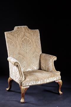 An Important Early English Kentian Walnut Wing Chair Circa 1735 - 127865
