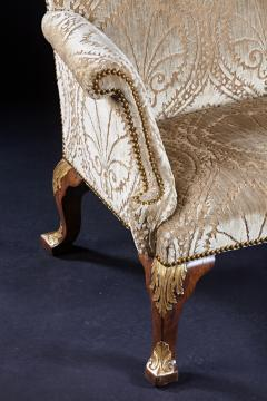 An Important Early English Kentian Walnut Wing Chair Circa 1735 - 127866