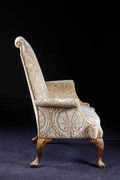 An Important Early English Kentian Walnut Wing Chair Circa 1735 - 127867