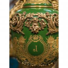 An Important Pair of S vres style Porcelain Urns and Cover - 1435606
