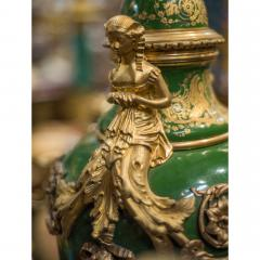 An Important Pair of S vres style Porcelain Urns and Cover - 1435608