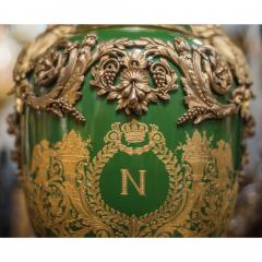 An Important Pair of S vres style Porcelain Urns and Cover - 1435610