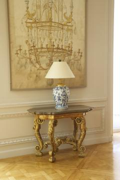 An Imposing Pair Of Giltwood Console Tables Bearing Their Original Marble Tops - 1352126