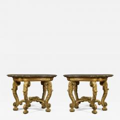 An Imposing Pair Of Giltwood Console Tables Bearing Their Original Marble Tops - 1352890