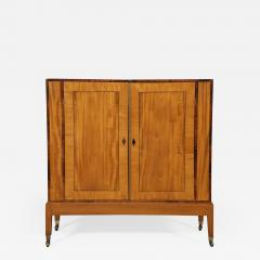 An Interesting Pair Of Satinwood Two Door Cabinets En Quatre Face - 1381965
