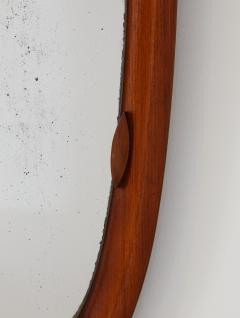 An Italian 1950s Teak Wood Molded Mirror Frame - 2093363