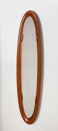 An Italian 1950s Teak Wood Molded Mirror Frame - 2093366