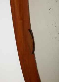 An Italian 1950s Teak Wood Molded Mirror Frame - 2093370