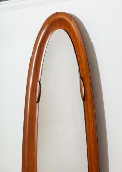 An Italian 1950s Teak Wood Molded Mirror Frame - 2093371
