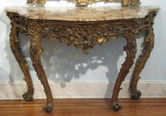 An Italian Carved and Gilded Console with Marble Top - 277383
