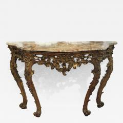 An Italian Carved and Gilded Console with Marble Top - 277849