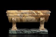 An Italian Grand Tour Sculpture Specimen Marble Yellow Antico Miniature Bath - 1951216