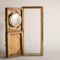 An Italian copper Dutch door circa 1930 with brass hinges Two doors - 1681104