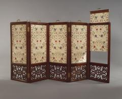 An Mahogany Brass Mounted Five Fold Screen Possibly from the Tuileries Palace - 1846828