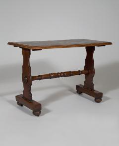 An Oak Rectangular Center Table With Parquetry Top Constructed Of Ship Timbers - 635235