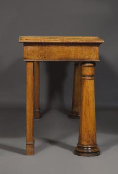 An Oak Side Table With Unusual Conical Lighthouse Form Legs - 1567987