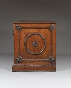 An Oak Two Door Folio Cabinet With Carved Kentian Detailing - 1200486