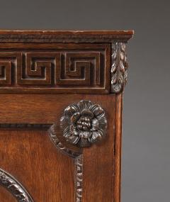 An Oak Two Door Folio Cabinet With Carved Kentian Detailing - 1200487