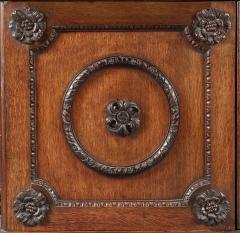 An Oak Two Door Folio Cabinet With Carved Kentian Detailing - 1200488