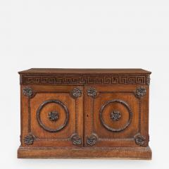 An Oak Two Door Folio Cabinet With Carved Kentian Detailing - 1201559