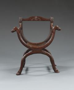 An Unusual Carved Rosewood Chair - 573702