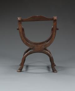 An Unusual Carved Rosewood Chair - 573703